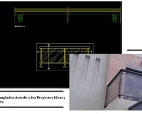 Colocación de vidrio templado Blindex Vilux y carpintería en aluminio