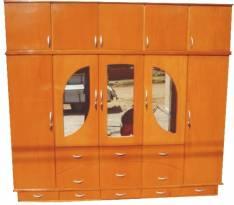 Ropero de 5 cuerpos con 3 espejos externos