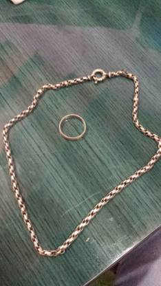 Cadena de plata con anillo