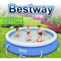 Piscina Bestway con borde inflable 5.377 litros