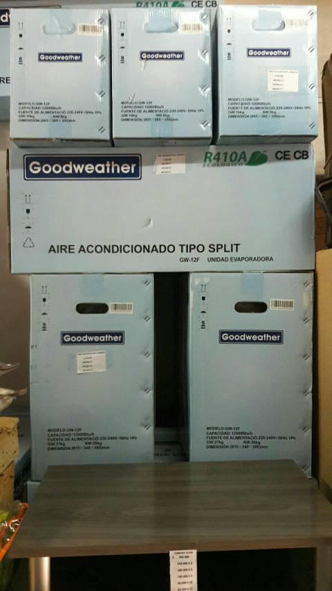 Split Goodweather de 12.000 btu con gas ecológico