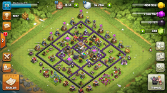 Aldea clash of clan th8 en progreso