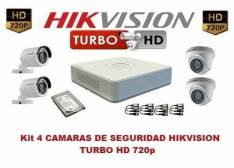 Kit de 4 Camaras hikvision Turbo hd