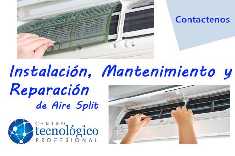 Instalacion y servicio Tecnico aire acondicionado Split