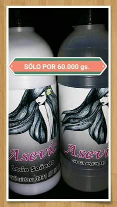 Shanpoo y acondisionadores ASEVIC