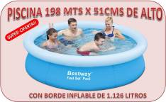 Piscina Con Borde Inflable 198 Mts x 51 Cms