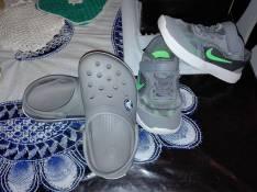 Calzado Nike y crocs calce 25