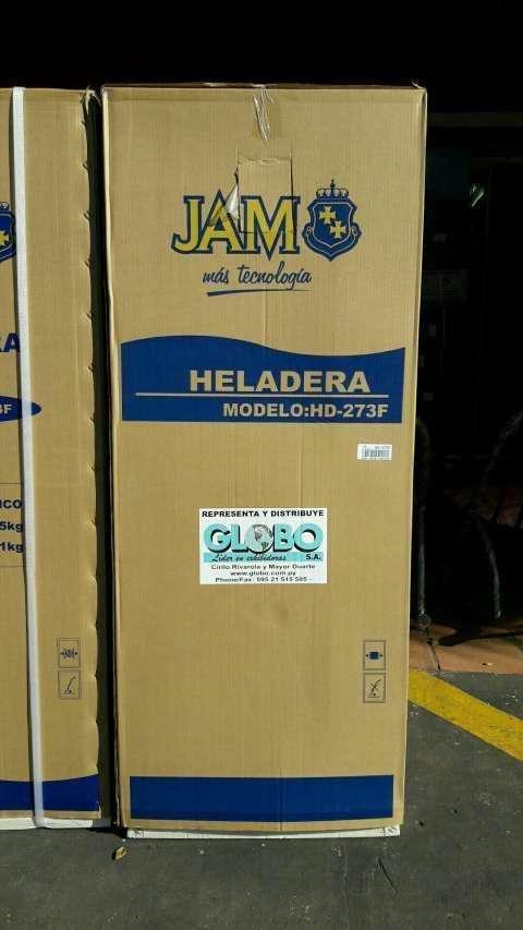Heladera Jam color blanco 300 litros 2 puertas - 0