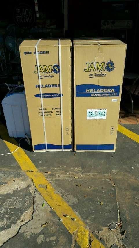 Heladera Jam color blanco 300 litros 2 puertas - 1