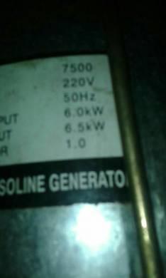 Generador naftero de 7.500