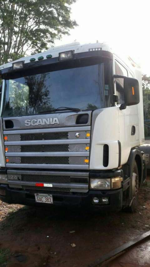 Scania 124 con carreta larga 14,50 2011