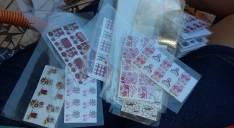 Adhesivos para uñas 3 cartela