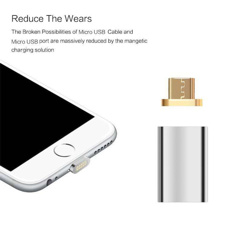 Adaptador Magnético para Cargador de Celulares Android y Iphone - 5