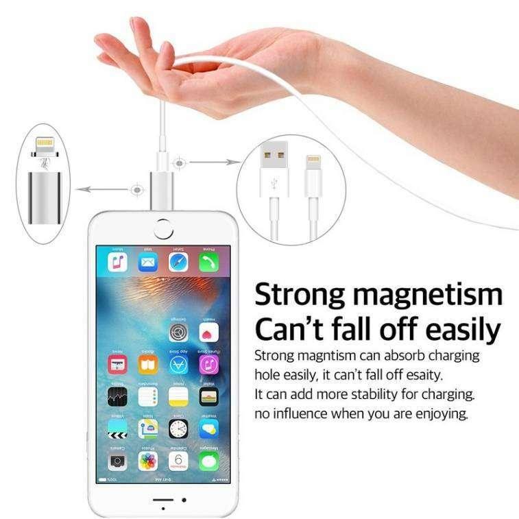 Adaptador Magnético para Cargador de Celulares Android y Iphone - 4