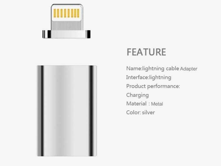 Adaptador Magnético para Cargador de Celulares Android y Iphone - 1
