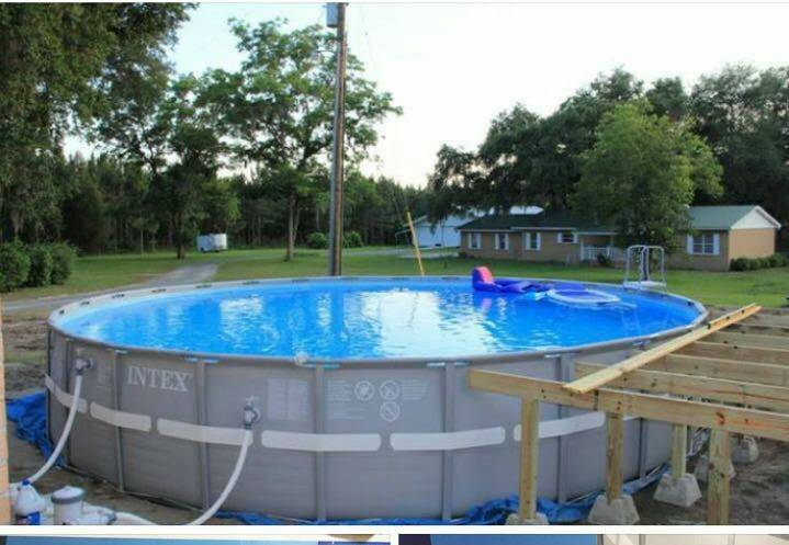 Piscina intex de 26000 litros nelson amarilla for Alberca intex redonda