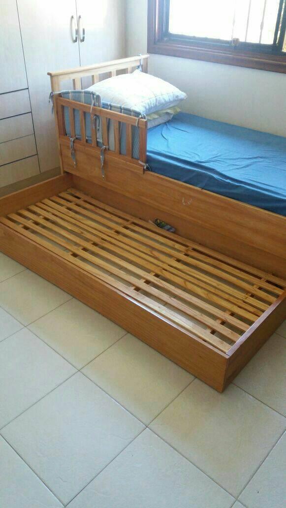Cama maciza doble de una plaza achon pxsx100pre for Medidas de cama de una plaza
