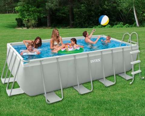 Piscinas INTEX rectangular 4 x 2 x 1 m.