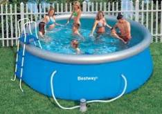 Piscina Besway con borde inflable 12.362 LTS