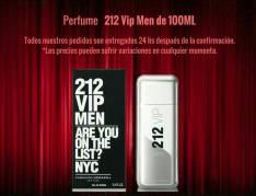 Perfume Carolina Herrera 212 Vip Men de 100 ml.