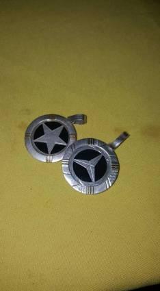 Cadena de plata con medallas