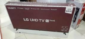 Smart tv led LG UHD 4K de 55 pulgadas más barra de sonido LG