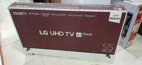 Smart tv led LG UHD 4K de 55 pulgadas más barra de sonido LG - 0
