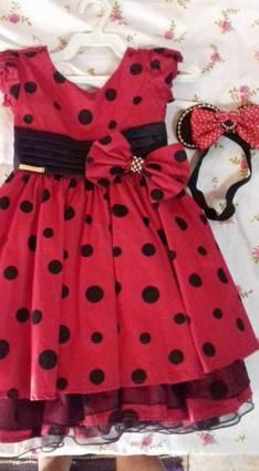 Vestido de Minnie con vincha