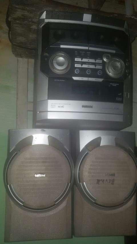 Equipo de sonido sin control