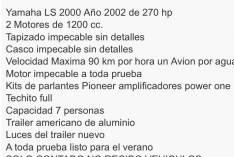Lancha Yamaha Ls 200
