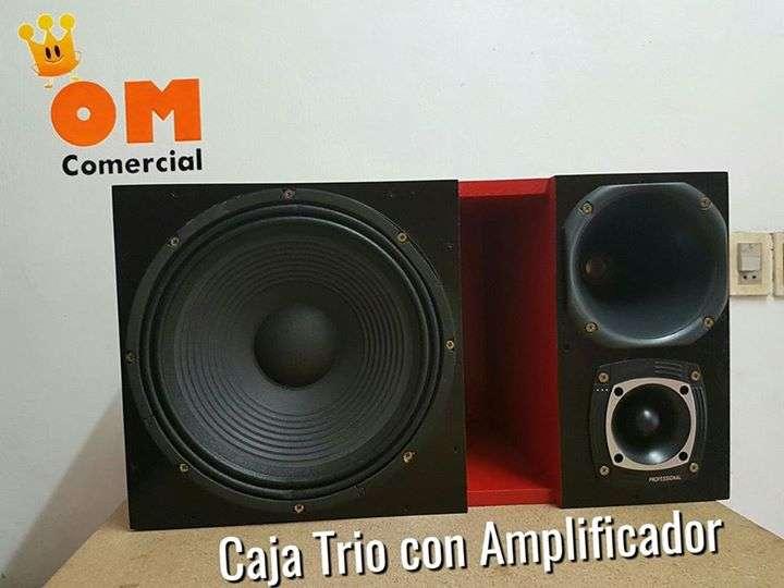 Caja trio con amplificador
