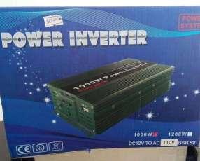 INVERSOR 12V a 220V de 1000W para auto y panel solar o solar