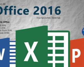 Curso OFFICE 2016: WORD, POWERPOINT, EXCEL