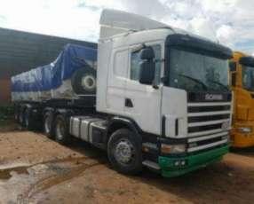 Tracto Scania 124-420 con cachamba Fachini