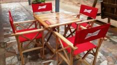 Juego de muebles de jardín, especiales para confiterias, bar, restaurantes