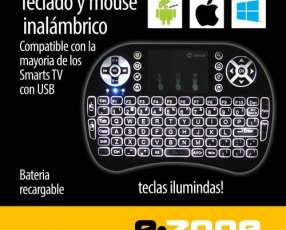 Mini Teclado Mouse inalámbrico con luz PC /Android/Smart