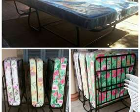 Campa plegable con colchón