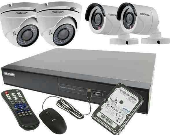 Kit de cámara de seguridad todo instalado HD con infrarrojas - 2