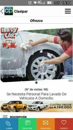 Lavado de autos a domicilio aspirado encerado lustre