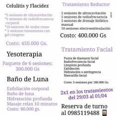 Tratamientos anticelulitis y reducción de tallas.