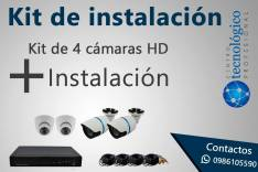 Kit de de 4 cámaras de seguridad HD 720P con infrarojo