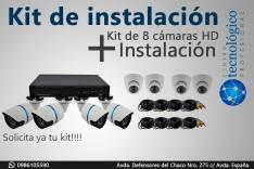 Kit de 8 cámaras de seguridad HD 720P con infrarojo