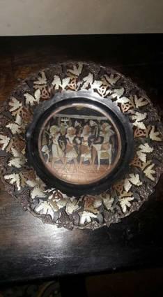 Plato de pared Egipcio con 4 tipos de metales