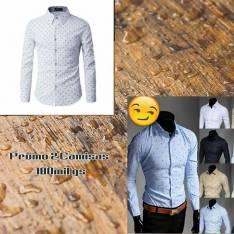 Camisas entalladas para caballeros tamaños M, L, XL