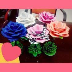 Bolígrafos en forma de flores..
