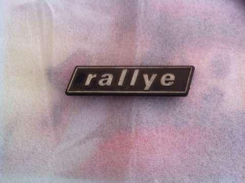 Insignia Emblema Rallye de Fiat