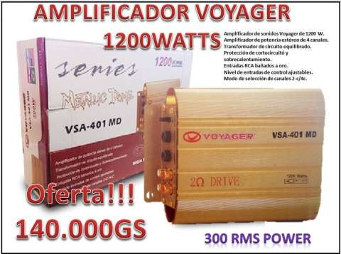 Amplificador de sonidos Voyager de 1200 Watts