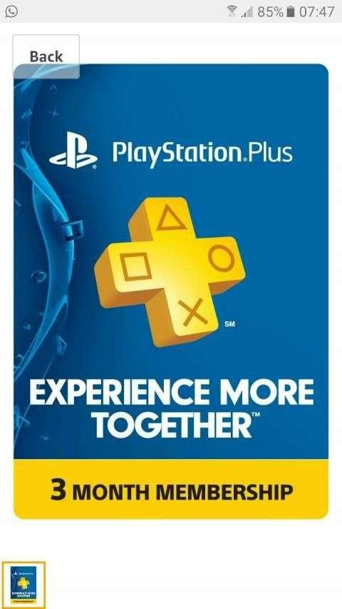 PlayStation Plus para ps3/ps4 /ps vita