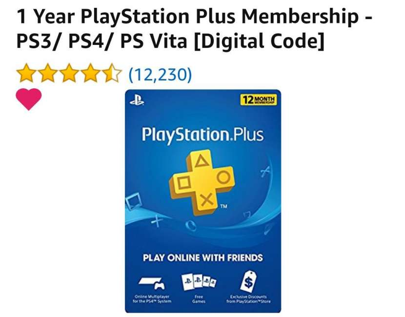 PlayStation Plus para ps3/ps4 /ps vita - 1