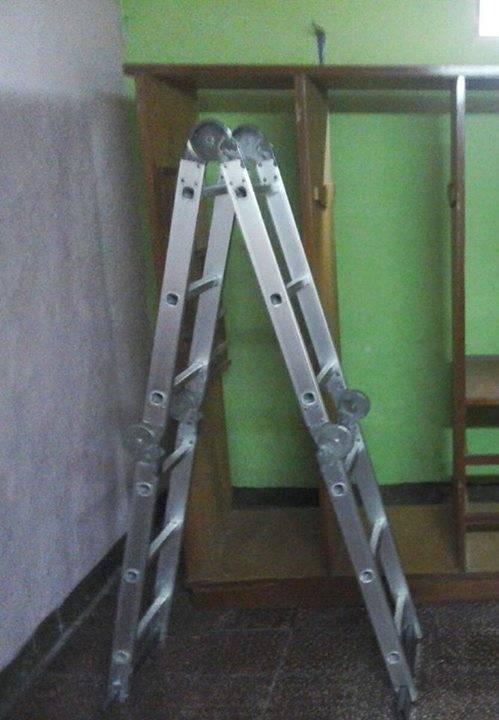 Escalera de aluminio hasta 3 60 metros de alcance for Escalera de aluminio de 8 metros